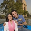 Stock Photo: Couple enjoying boating