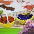 Stock Photo: Water colours in bowl