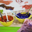 Stok fotoğraf: Water colours in bowl