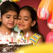 Girls with birthday cake — Stock Photo #39453127