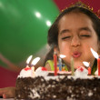 Girl with birthday cake — Stock Photo #39454517
