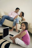 Parents with their daughter — Stock Photo