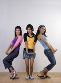 Three girls in pose — Foto de Stock