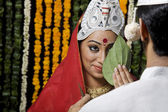 Indian bride and groom — Stock Photo