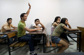 College students attending a class — Stock Photo