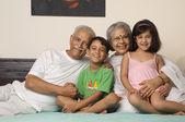 Grandparents and grandchildren — Stock Photo