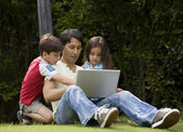 Father with his kids — Stock Photo