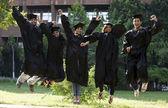 Students graduating — Stock Photo