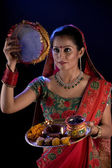 Woman in Karva Chauth — Stock Photo