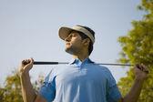 Golfer man — Stock Photo