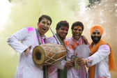 Men celebrating Holi — Stock Photo