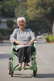 Patient in a wheelchair — Stock Photo