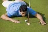 Golfista va a disparar — Foto de Stock