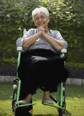 Patient on a wheelchair — Stock Photo