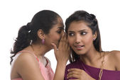 Women whispering — Stock Photo