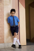 Punished school boy — Stock Photo