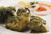 Hariyali chicken kebab — Stock Photo