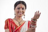 Bengali woman smiling — Stock Photo
