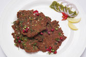 Chapli kebab on plate — Stock Photo