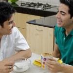 Men having breakfast — Stock Photo #42385127