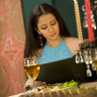 Woman enjoying a meal — Stock Photo