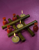 Candles in a decorative style — Stock Photo