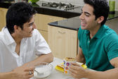 Men having breakfast — Stock Photo