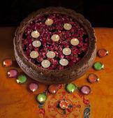 Diyas placed decoratively — Stock Photo
