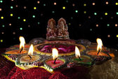 Diyas placed decoratively — Stock Photo