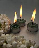 Dekorativní svíčky — Stock fotografie
