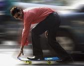 Man on a skateboard — Stock Photo