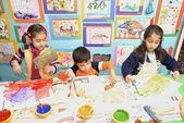 Little children painting — Stock Photo