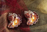 Decorative diyas — Stock Photo
