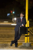 Businessman waiting — Stock Photo