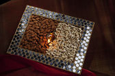 Box with nuts — Stock Photo
