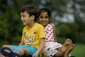 Children at a picnic — Stock Photo