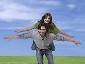 Young couple having fun — Stock Photo