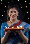 Maharashtrian woman — Stock Photo