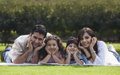 Family enjoying at a picnic — Stock Photo