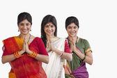 Women greeting — Stock Photo