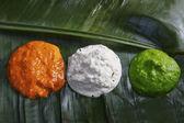 Different coloured chutney — Stock Photo