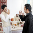 Muslim men greeting each other — Stock Photo #43489849