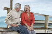 Old couple together — Stock Photo