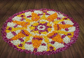 Flower rangoli — Stock Photo