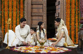 South Indian family — Stock Photo