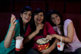 Girls watching a movie — Stock Photo