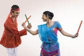 Gujarati woman dancing — Stock Photo