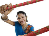 Gujarati woman dancing — Stock Photo