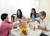 Family having dinner — Stock Photo