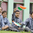 School boys with the Indian Flag — Stock Photo